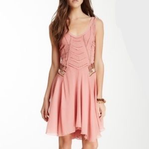 FREE PEOPLE Pop Champagne Beaded Dress